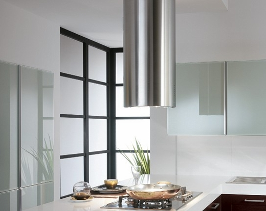 """CYLNIS15SS Faber Designer Collection 15"""" Cylindra Isola Island Hood - Stainless Steel"""