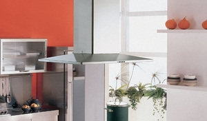 """DIAMIS36SS Faber Designer Collection 36"""" Diamante Isola Island Hood - Stainless Steel"""