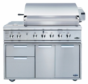 """CAD-48 DCS 48"""" Professional Outdoor Grill Cart - Stainless Steel"""