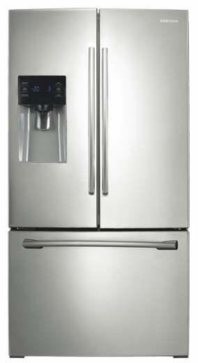 RF263BEAESR Samsung 26 cu.ft. French Door Refrigerator  with External Water & Ice Dispenser (Stainless Steel) - Stainless Steel