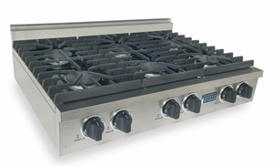 TTN0317 Five Star 36'' Natural Gas Pro Cooktop with 6 Sealed Burners - Stainless Steel