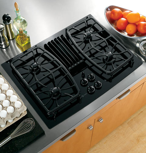 Ge Electric Cooktop With Downdraft ~ Pgp dnbb ge profile quot built in gas downdraft cooktop