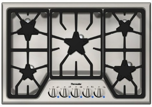 """SGS305FS Thermador 30"""" Masterpiece Gas Cooktop with 5 Star Burners - Stainless Steel"""