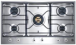 "PM36500X Bertazzoni Built-in Designer Series 36"" Segmented Gas Cooktop - 5 Burners - Stainless Steel"
