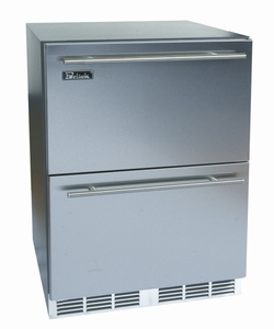 "HA24FB35 Perlick ADA Compliant 24"" Built-in Indoor Freezer with Solid Stainless Steel Drawers"