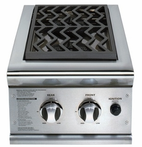 """BGB132N Double 30"""" Grill Cart Side Burners - Natural Gas"""