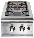 BGB132BIN Double Built-In Side Burners - Natural Gas