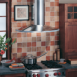 "RM519004 Broan Elite 36"" Wall Mount Chimney Hood with 370 CFM Internal Blower - Stainless Steel"