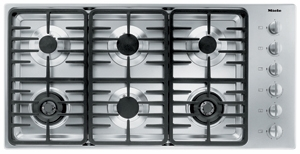 """KM3485LP Miele 3000 Series 42"""" Liquid Propane Cooktop with Linear Grates - Stainless Steel"""
