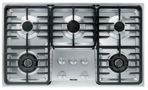 "KM3475LP Miele 3000 Series 36"" Liquid Propane Cooktop with Linear Grates - Stainless Steel"