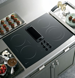"PP989DNBB GE Profile 30"" Downdraft Electric Cooktop - Black"