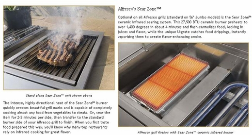 "ALXE42SZ Alfresco 42"" Built-In Outdoor Grill with SearZone - Natural Gas - Stainless Steel"