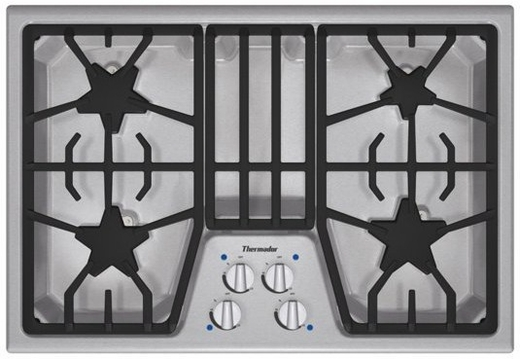 """SGS304FS Thermador 30"""" Masterpiece Gas Cooktop with 4 Star Burners - Stainless Steel"""