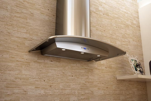 "ZMI-M90BS Zephyr 36"" Milano-S Wall Hood with 715 CFM Blower - Stainless Steel"