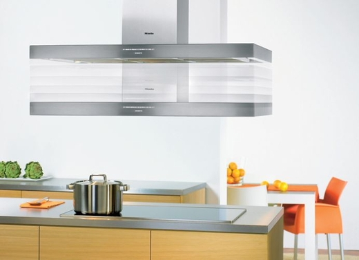 "DA424V Miele 48"" Decor Island Hood with 625 CFM Blower - Stainless Steel"
