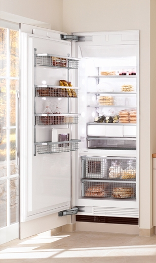 """F1803SF Miele 30"""" All Freezer Fully Integrated Right Hinged - CleanTouch Stainless Steel"""