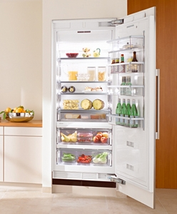 "K1913Vi Miele Energy Star 36"" Fully Integrated All Refrigerator Left Hinged - Custom Panel"