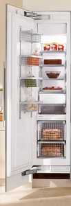 "F1413Vi Miele 18"" All Freezer Fully Integrated with Internal Ice Maker Left Hinged - Custom Panel"