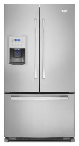 GI0FSAXVY Whirlpool Energy Star Gold Counter Depth 20 Cu. Ft. French Door Bottom Mount Refrigerator - Monochromatic Stainless Steel