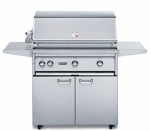 """L36TRFNG - Lynx 36"""" Freestanding Professional Outdoor Grill with 1 Trident Burner and Rotisserie - Natural Gas"""