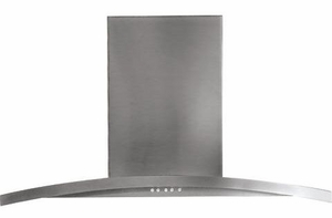 "PV976NSS GE Profile 36"" Designer Wall Mount Hood - Stainless Steel"