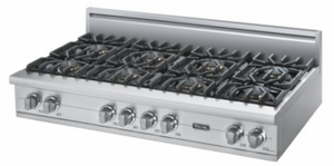"VGRT5488BSS Viking 48"" Gas Custom Sealed Burner Rangetop with 8 Burners - Natural Gas -  Stainless Steel"