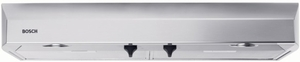 "DUH36252UC Bosch 36"" Under Cabinet Hood with 400 CFM Blower - Stainless Steel"
