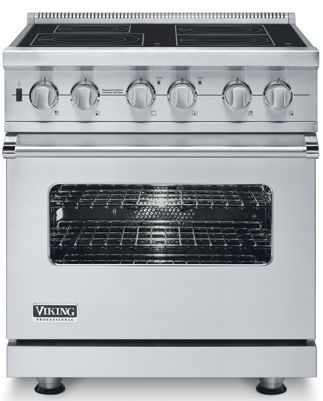 "VISC5304BSS Viking 30"" Electric Induction Self-Clean Freestanding Range - Stainless Steel"