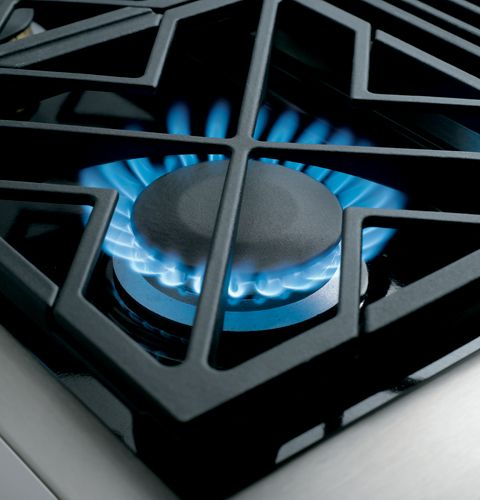 """ZGU366NPSS GE Monogram 36"""" Pro Style Gas Cooktop with 6 Burners - Natural Gas - Stainless Steel"""