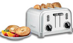 CPT-180 Cuisinart Metal Classic 4 Slice Toaster With Brushed Stainless Steel Housing