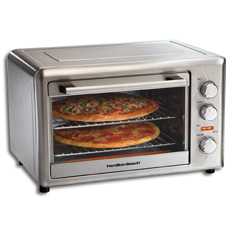 31103 Hamilton Beach Stainless Large Capacity Oven With Rotisserie Function