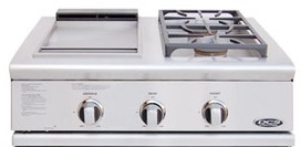 """BFG-30BGD-L DCS 30"""" Liberty Outdoor Grill Side Burner & Griddle Unit - Liquid Propane - Stainless Steel"""