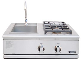 """BFG-30BS-N DCS 30"""" Liberty Outdoor Grill Side Burner & Sink Unit - Natural Gas - Stainless Steel"""