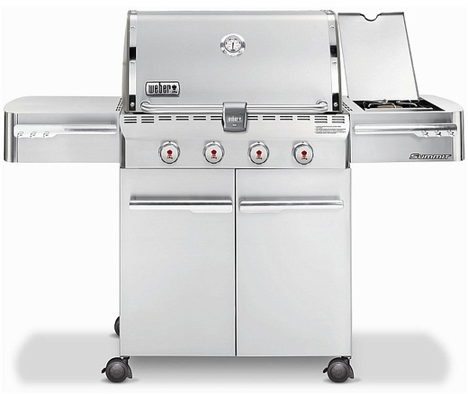 7220001 Weber Summit S-420 Outdoor Gas Grill - Natural Gas - Stainless Steel