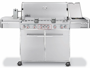 weber summit s670 outdoor gas grill natural gas stainless steel - Natural Gas Grill