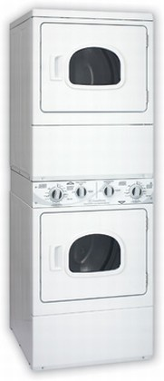 ASE30F Speed Queen   Stacked Electric Dryer/Dryer Unit - White