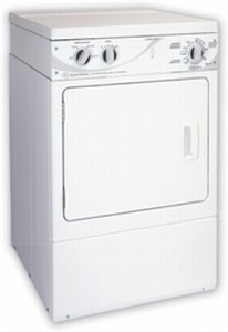 ADE4BF Speed Queen 7 Cu. Ft.  Front Control Electric Dryer - 4 Cycles - White