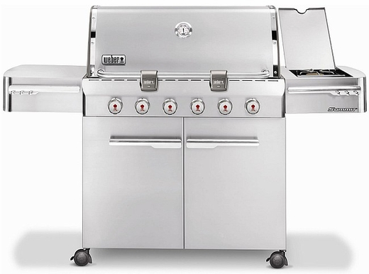 7320001 Weber Summit S-620 Outdoor Gas Grill - Liquid Propane - Stainless Steel