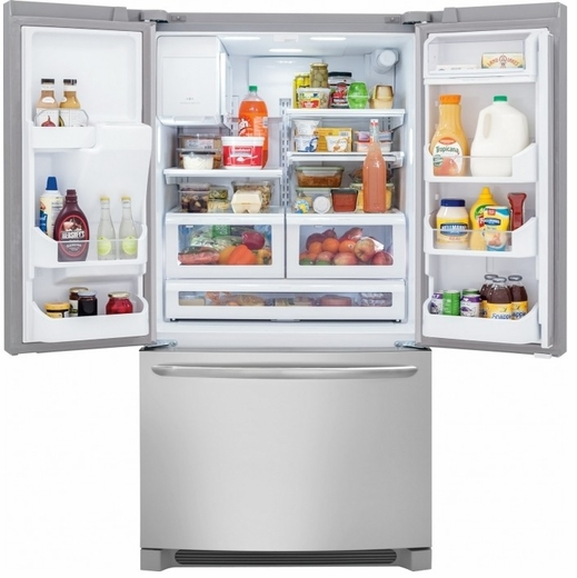"FGHF2366PF 36"" Frigidaire Gallery 22.6 Cu. Ft. French Door Counter Depth Refrigerator - Stainless Steel"