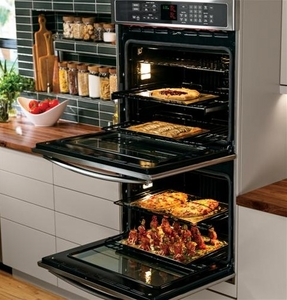 "PT9550SFSS GE Profile Series 30"" Built-In Double Convection Wall Oven - Stainless Steel"