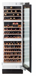 "KWT1603SF Miele 24"" Wine Storage Unit - Right Hinge - CleanTouch Stainless Steel"