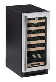 2115WCS-00 U-Line 2000 Series Undercounter 24 Bottle Wine Captain - Field Reversible - Stainless Steel