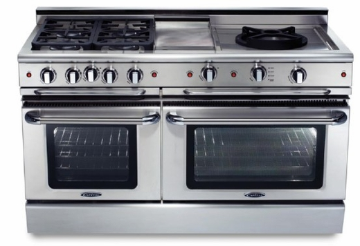 "GSCR606WL Capital 60"" Precision Pro Style Gas Convection Range 6 Burners & Power Wok - Liquid Propane - Stainless Steel"