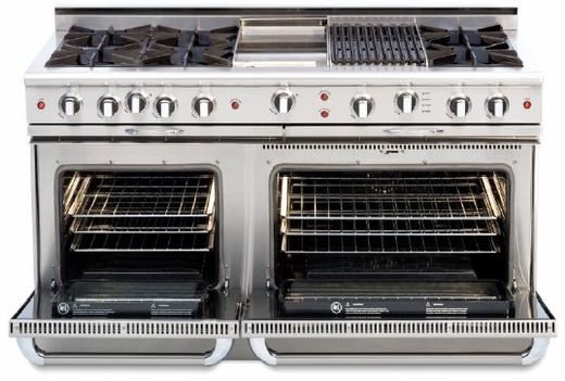 "CGSR604BB2L Capital Culinarian Series 60"" Self-Clean Liquid Propane Range with 6 Open Burners and 24"" Grill - Stainless Steel"