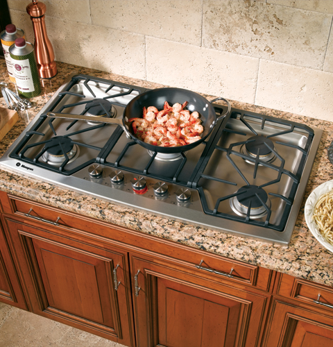 """ZGU385NSMSS Monogram 36"""" Gas Cooktop - Natural Gas - Stainless Steel"""