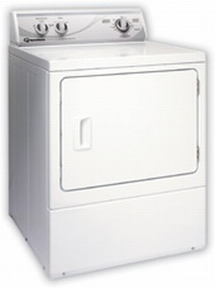 ADG3LR Speed Queen Rear Control Gas Dryer - 3 Cycles - White