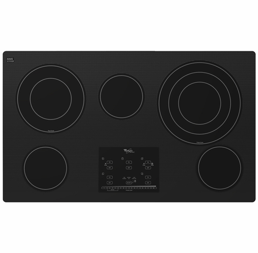 "G9CE3675XB Whirlpool Gold 36"" Electric Cooktop - Black"