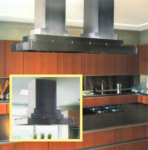 """CILH9-2+266 Vent-A-Hood 66"""" Contemporary Multi-Layered Island Hood (1200 CFM) - Stainless Steel"""