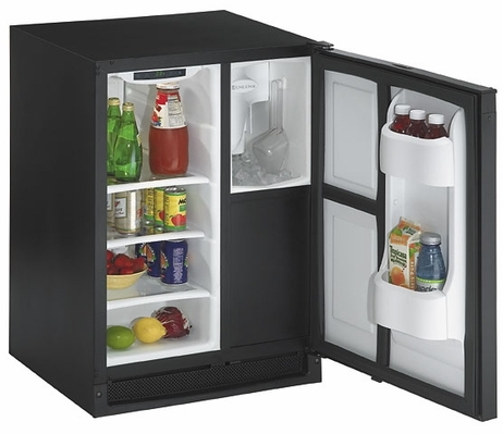 CLRCO2175B-00 U-Line 2000 Series Undercounter Clear Icemaker & Refrigerator - Black - Field Reversible