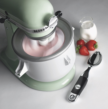 Kicaowh Kitchenaid Ice Cream Maker Attachment With Freeze Bowl Paddle